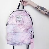 bag,yeah bunny,marbe,pink,pastel,backpack