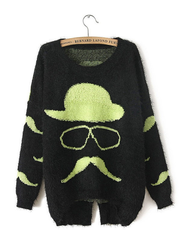 sweater cotton black cute lovely lovely knitting
