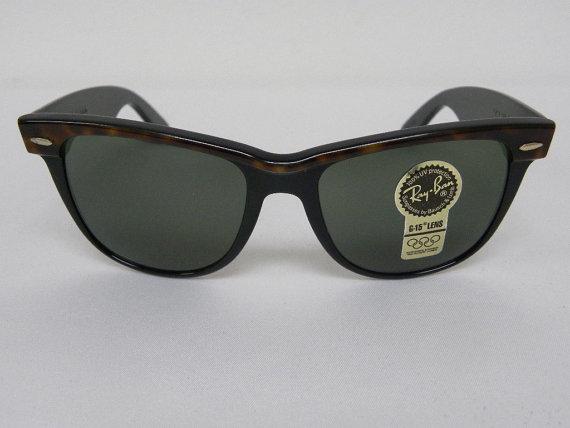 New vintage b & l ray ban wayfarer ii tortue ebony black g