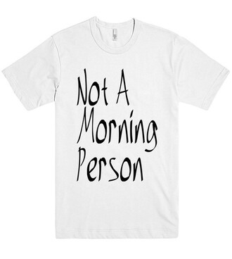 t-shirt cool shirtoopia hipster i am not a morning person trendy