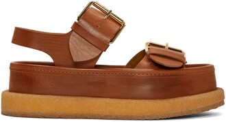 buckles sandals brown shoes