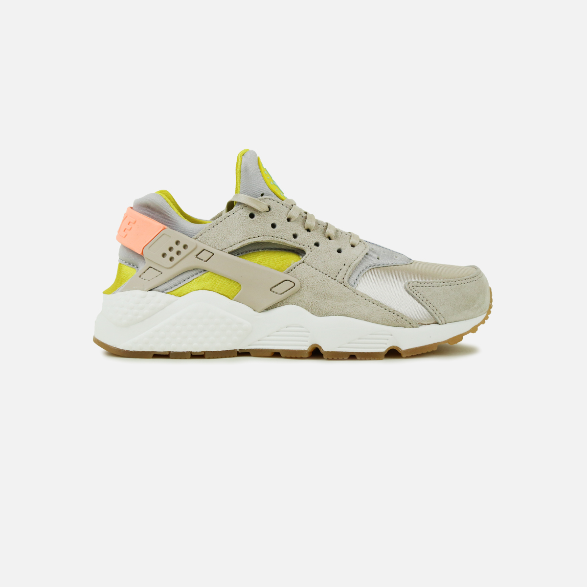 sports shoes 8f22b a0a20 Nike Air Huarache Run (Metallic Silver Sunset Glow-Green)   VILLA