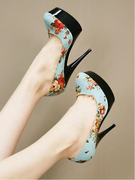 shoes floral cute