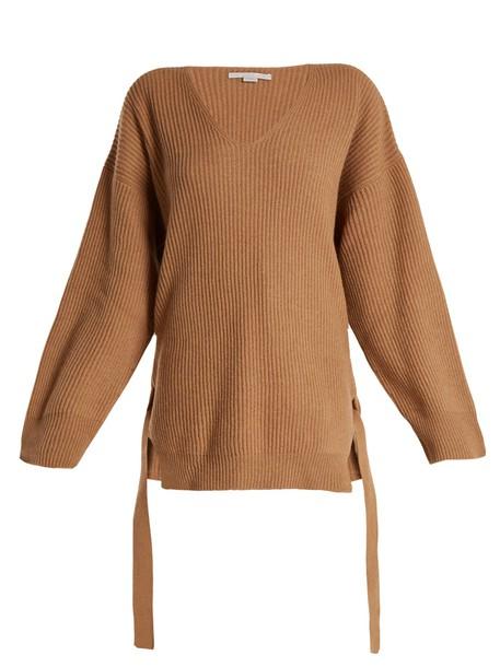 Stella McCartney sweater knit camel