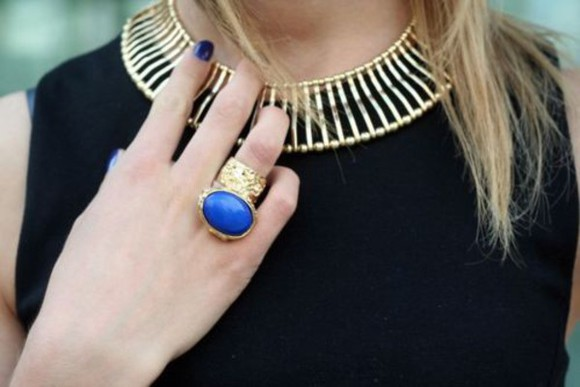 jewels ysl necklace cage ring