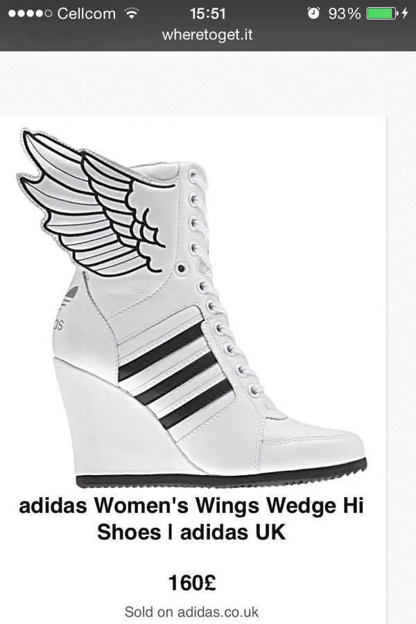 adidas Women's Jeremy Scott Wings Wedge Hi Shoes | adidas ...