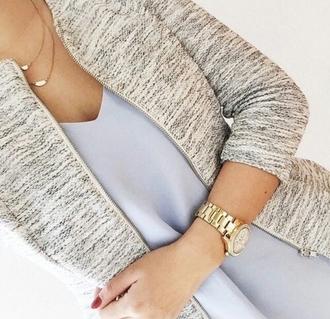 jacket grey burnout zipup