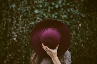 hat fall accessories felt hat burgundy boho