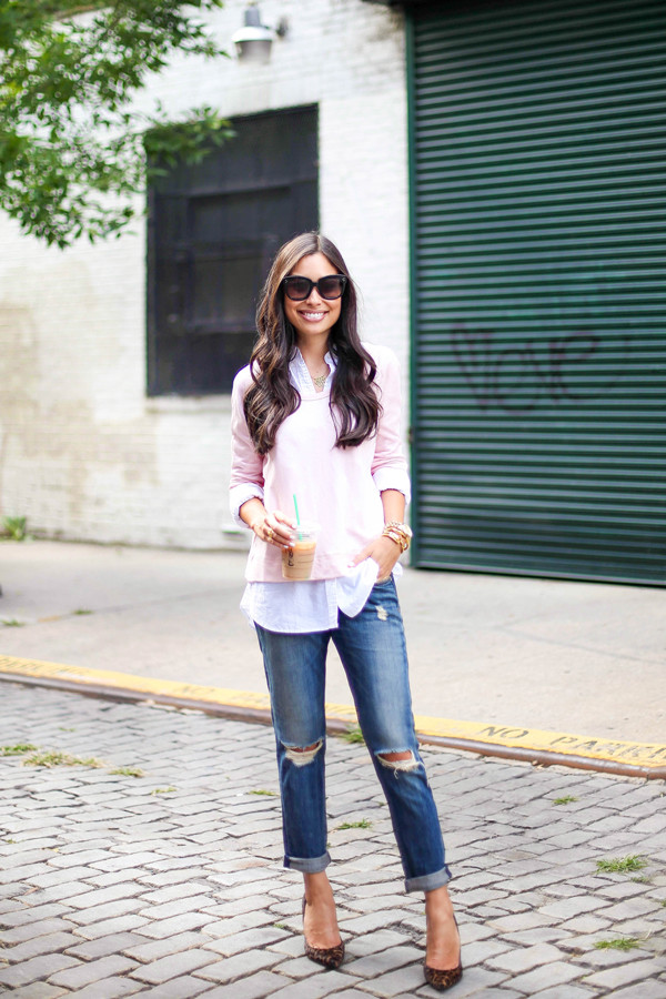 with love from kat blogger top jeans shoes sunglasses jewels