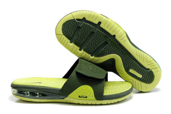 Air LeBron Slide Army Green/Volt Green Nike Men's Size Shoes
