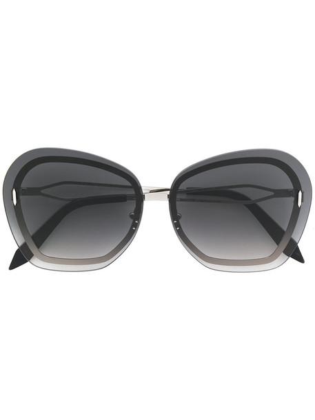 Victoria Beckham metal women butterfly sunglasses grey