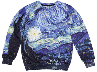 sweater printed sweater sweatshirt van gogh starry night blue sweater van gogh sweater van gogh sweatshirt jumper pullover starry night print starry nigh sweatshirt all over print sweatshirt full print sweater full print sweatshirt girly