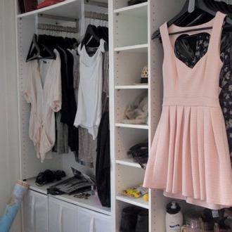 dress short dress heart pastel dress pastel pink