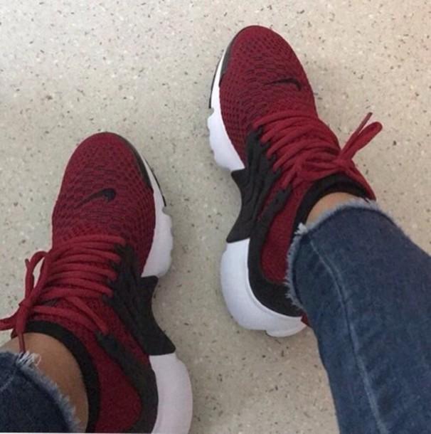 shoes red nike prestos