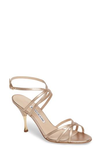 Manolo Blahnik Naro Ankle Strap Sandal (Women)   Nordstrom