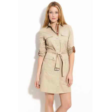 Michael michael kors belted safari dress from nordstrom