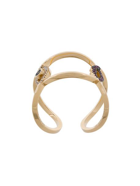 Delfina Delettrez women lips ring gold yellow orange jewels