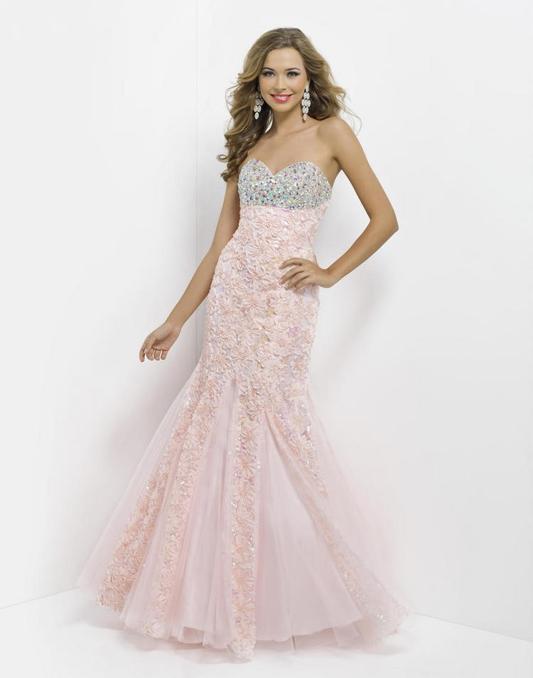 Sweetheart Sweep Train Pink Tulle Trumpet Mermaid Prom Dress Obp0106