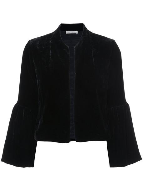 jacket women black silk