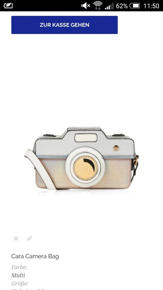 bag camera motiv design white blue baby blue rose gold