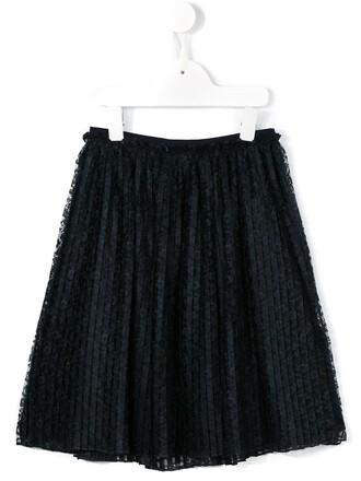 skirt lace skirt girl pleated lace blue