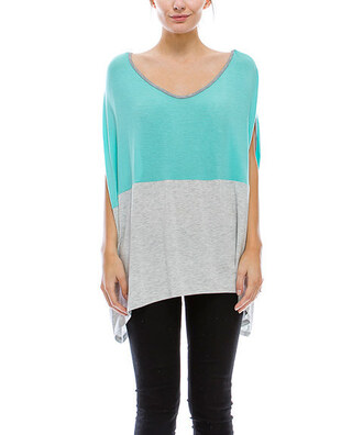 shirt colorblock sleeveless