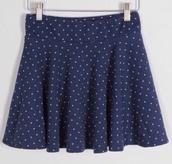 skirt,polka dots,mini skirt,skater skirt