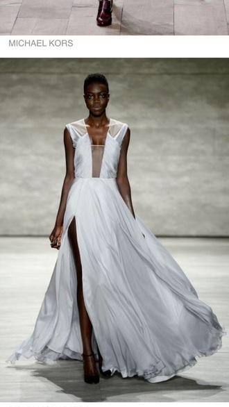 dress michael kross love kross long dress runway dress