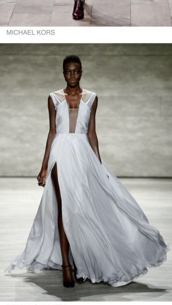 dress michael kross love kross long dress runway