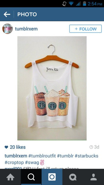 top freshtops freshtops starbucks coffee starbucks coffee tank top latte coffee starbucks coffee