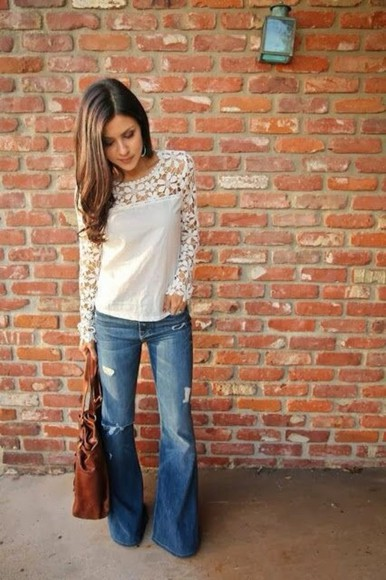 cream blouse floral design shirt