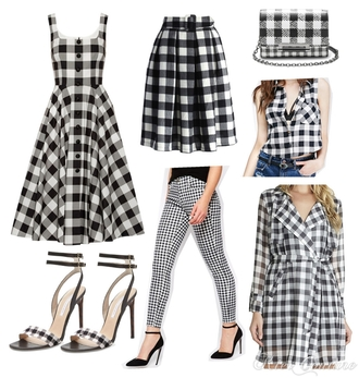 fashion addict blogger gingham skirt printed pants sandals outfit dress