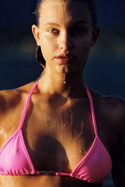 I.AM.GIA Ava Neon Triangle Bikini Top