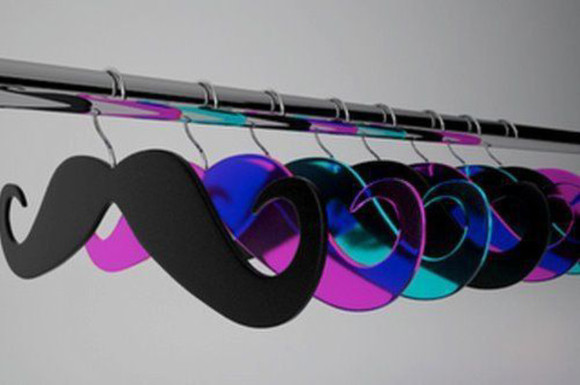 moustache hanger plastic home decor