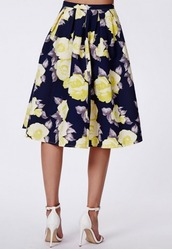 shirt,clothe,flowers,floral skirt,50s style,classy