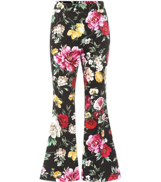 Dolce & Gabbana Floral-printed cotton trousers