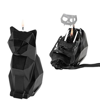 home accessory melting candle cats goth wiccan pyropet halloween decor black cat
