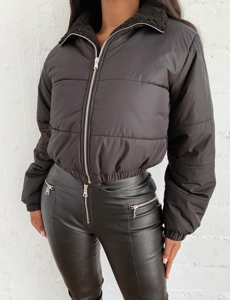 Zeke Puffer Jacket - Black - XS BLACK