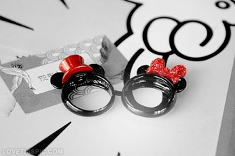 jewels ring mickey mouse minnie mouse minnie and mickey