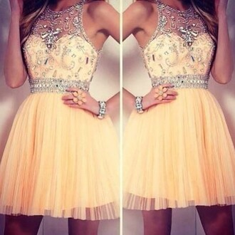dress pretty gorgeous homecoming dress homecoming prom dress beautiful ball gowns orange dress