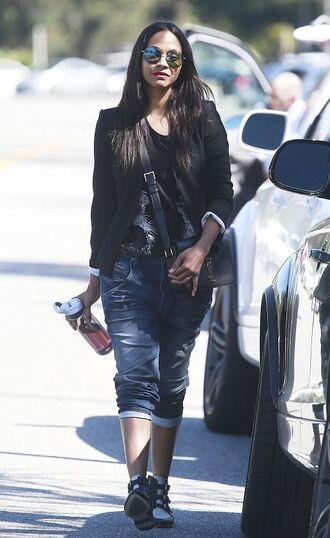 jeans boyfriend jeans zoe saldana shoes