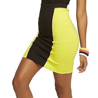 Nicki Minaj Women's Knit Pencil Skirt - Colorblock - Clothing - Women's - Skirts
