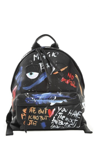 painting backpack leather backpack leather bag