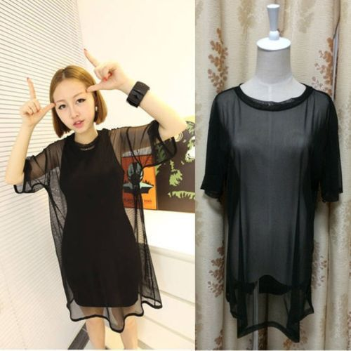 blouse pants Picture - More Detailed Picture about Sexy Women See Through Sheer Mesh Short Sleeve Tee T Shirt Oversize Tops Blouse Picture in Blouses & Shirts from CiCi -Fashion store