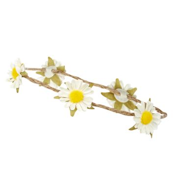 White Daisy Garland Headband