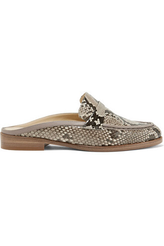snake python loafers leather print snake print shoes