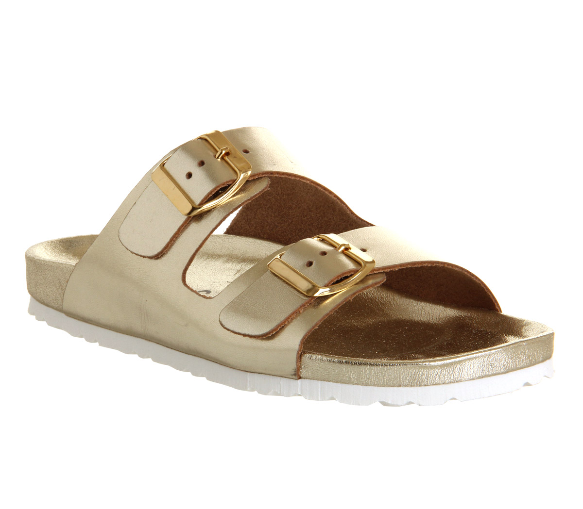 Strap Double Gold Mono Office Hype Sandals 8wOPn0NkX