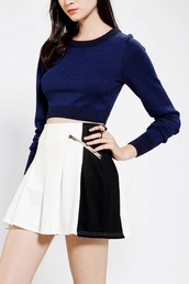 sweater,ariana grande cropped  blue pullover
