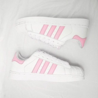 shoes adidas superstar pink white snickers adidas superstars cute sporty girly summer boogzel