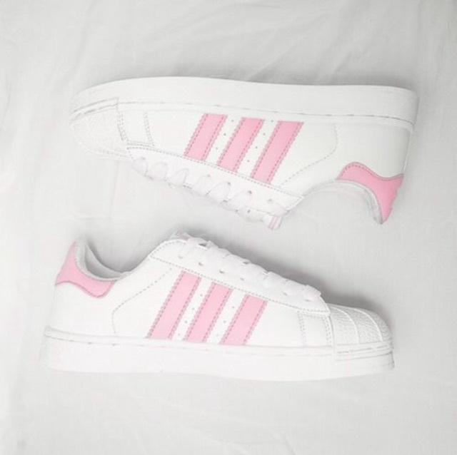 adidas superstar foundation j w schoenen wit roze